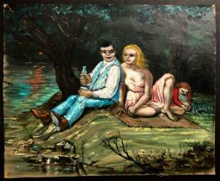 Albert Pels (American,1910-1998) Figural Painting 1930s