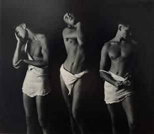 Semi-Clad Male Art Photograph, Smith N.Y. 1985