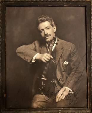 Fritz Kreisler Autographed Inscribed Photograph, 1919