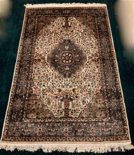 Semi-Antique Hand-Knotted Persian Rug: 5 ft. x 8 ft.