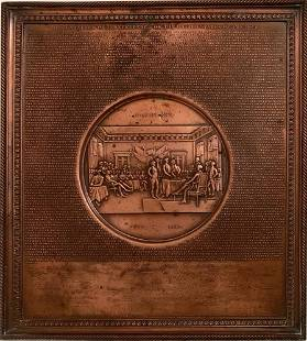 Declaration of Independence Centennial Copper Plaque