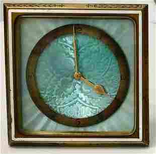 Art Deco Guilloche Enameled Desk Clock Schild & Co.