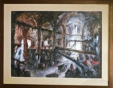 Beni Montresor (Italian, 1926-2001) Painting, 1958