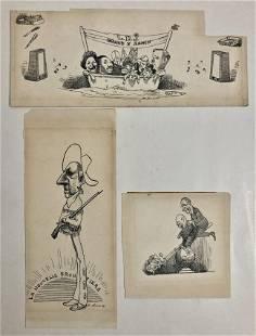 David Levine (American, 1926-2009) Drawings 1964