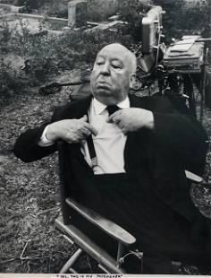 Alfred Hitchcock Gelatin Silver Print, Philippe Halsman