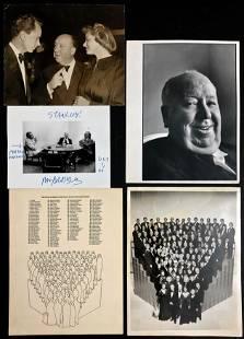 Hitchcock Photographs Including Studio CBS Stars (4)