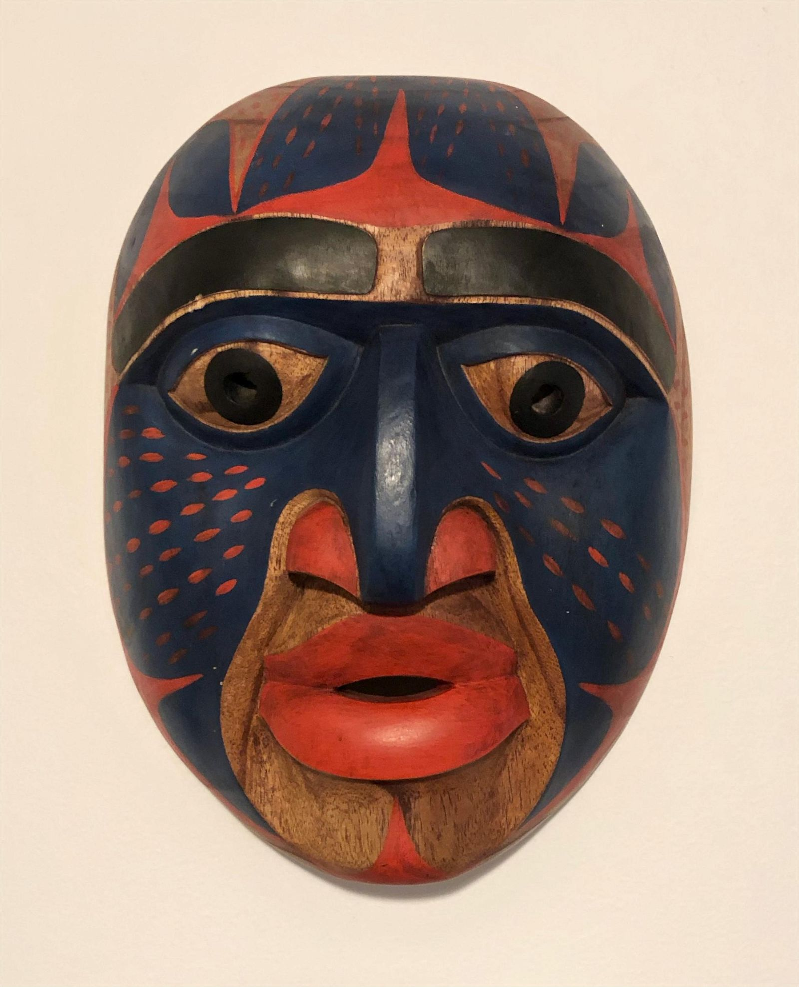 Northwest Coast Carved Haida Shaman Mask, Signed
