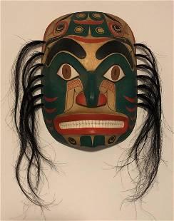 Pacific Northwest Coast Carved Haida Shark Man Mask