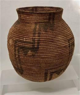 Native American Indian Woven Apache Basket