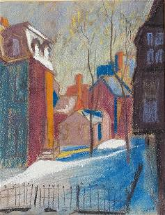 Emile Stahl Street Painting OUT MY WINDOW 1935