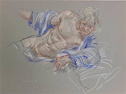 PAUL CADMUS (AMERICAN, 1904-1999) Drawing, 1970s