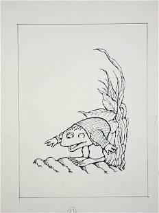 Arnold Lobel Frog & Toad Original Published Drawing