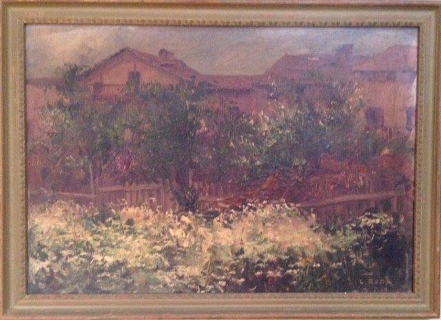 Leonardo Roda (Italian 1868-1933) Painting,Turin Italy