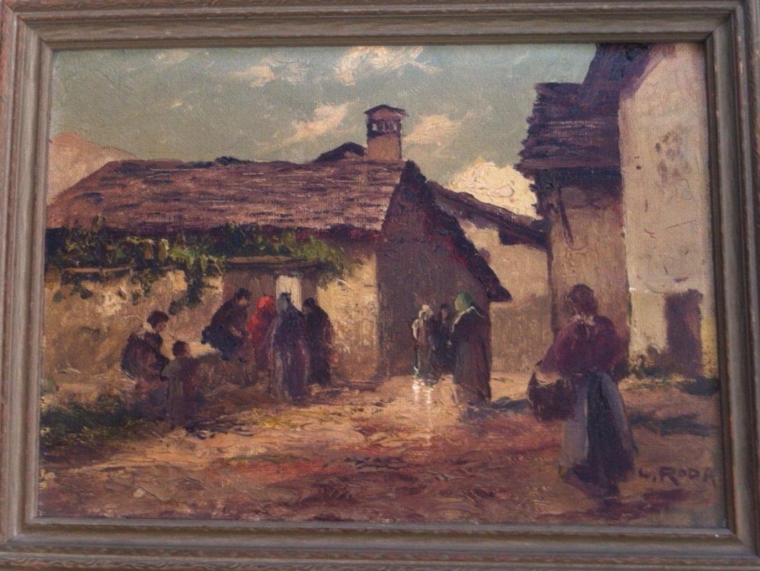 Leonardo Roda (Italian 1868-1933) Painting, Turin Italy