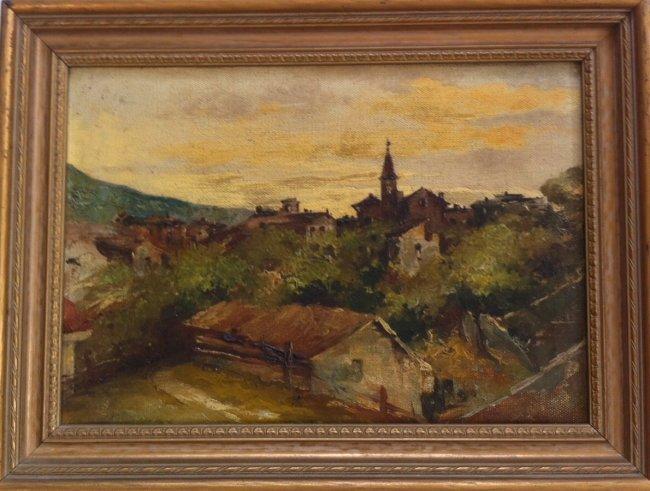 Leonardo Roda (Italian 1868-1933 ) Painting,Turin Italy