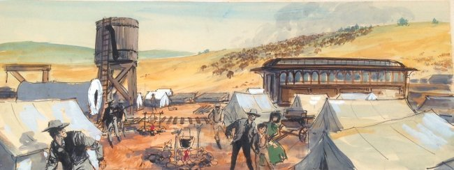 """""""How The West Was Won"""", MGM Illustration Painting,1962"""