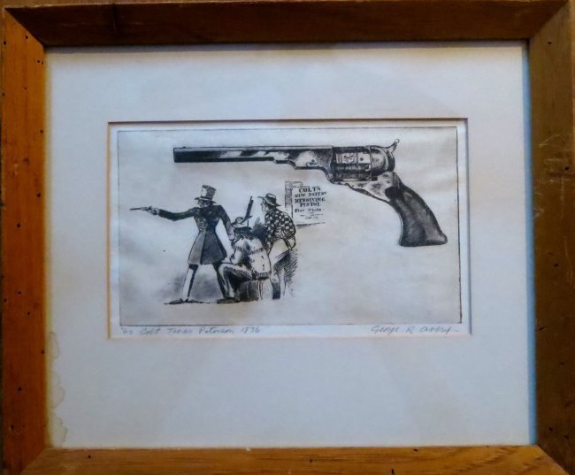 American West Etching, George Rupert Avery, 1940