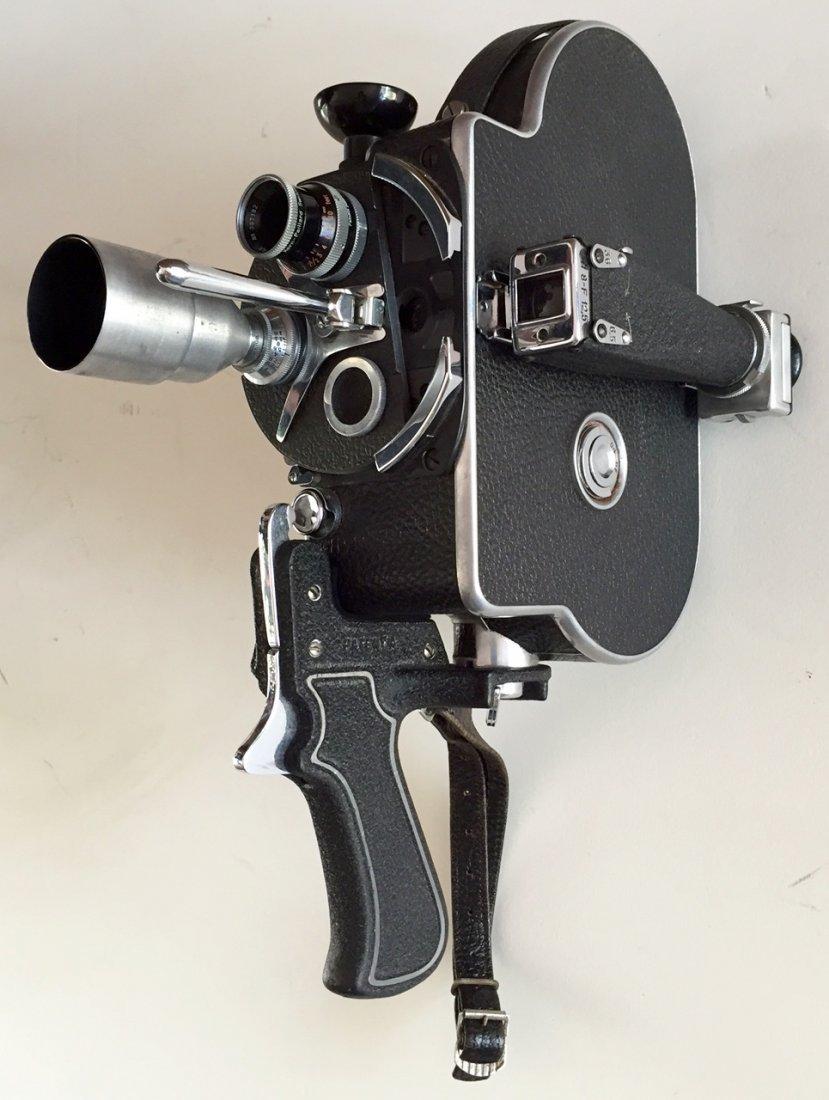 Paillard Bolex H-8mm Movie Camera, Lens + & Custom Case