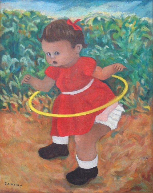 Victor Manuel Cancino (b. Mexico 1929) Painting c.1960