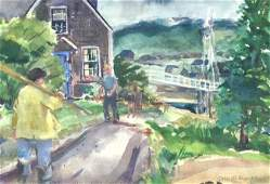 "New England Maine, J. Phillip Richards,""Storm"""