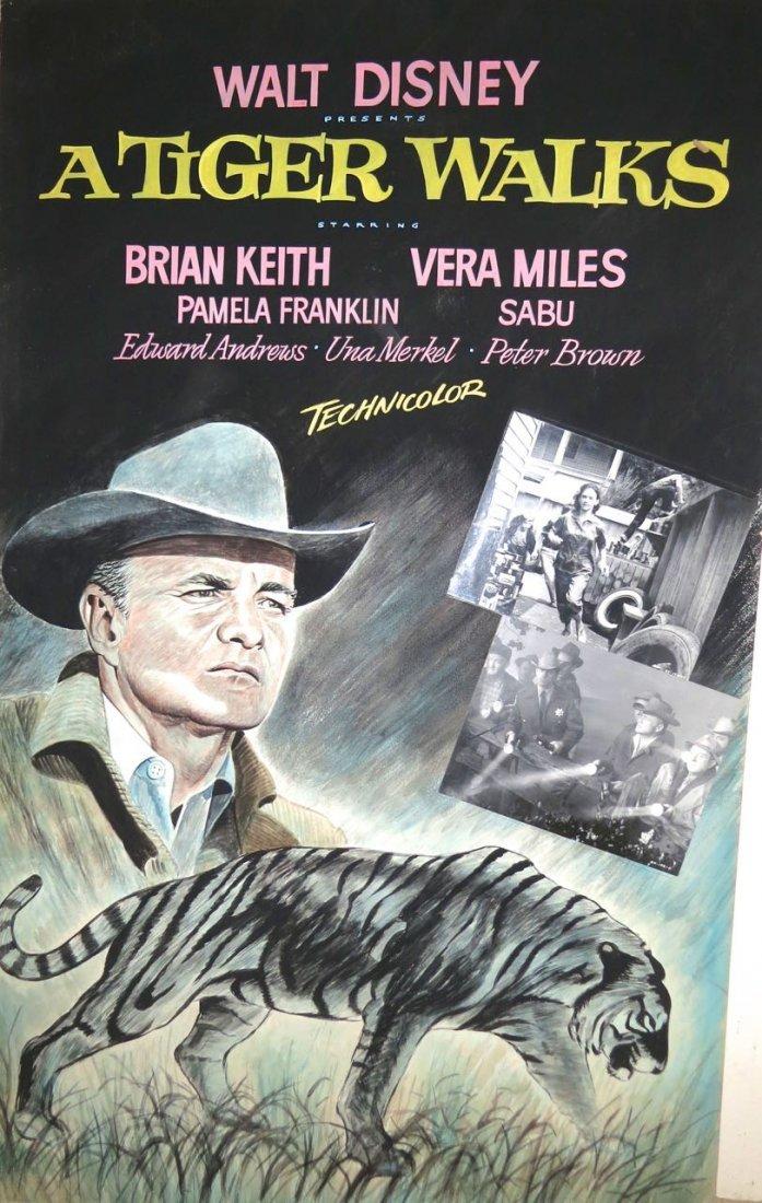 Cinema Painting 'A Tiger Walks' John J. Lomasney 1964