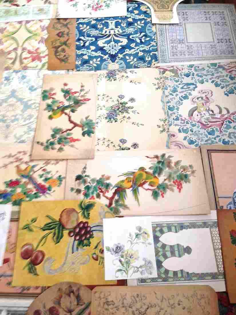 Designs: Original Victorian Gouache  Designs, (150+)