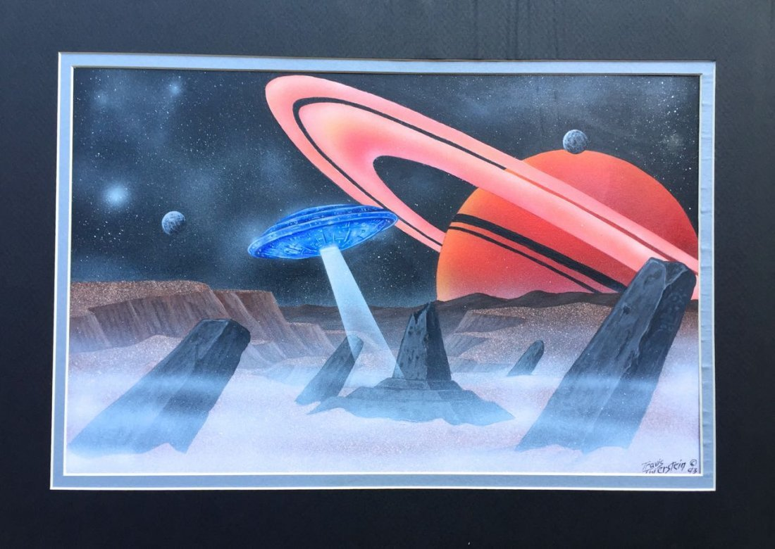 Science Fiction Painting, Space Scanning, T. Thierstein