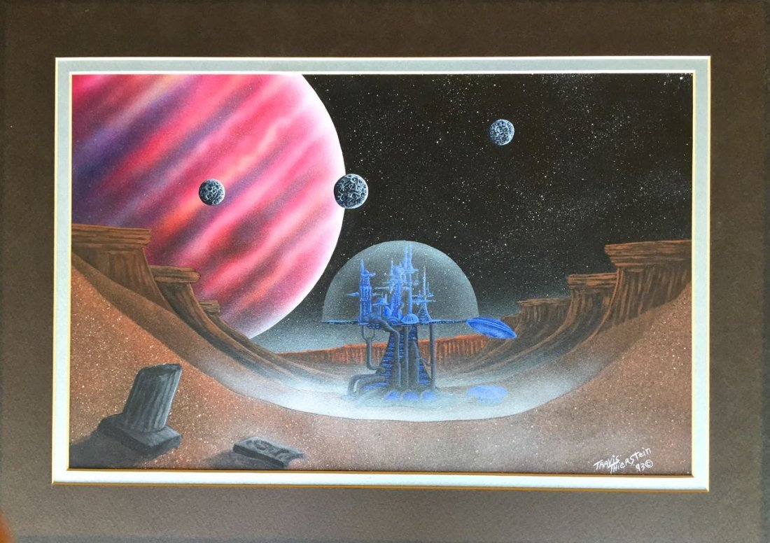 Science Fiction Painting, Space City, Travis Thierstein