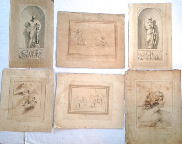 Six Continental Old Master  Engravings and Etchings