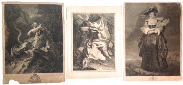 Three Continental, Old Master Engravings And Etchings