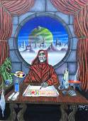 Science Fiction Painting, Planetary Scribe, Thierstein