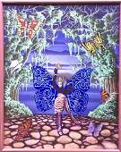 """Science Fiction Painting """"Demonic Butterfly"""" Thierstien"""