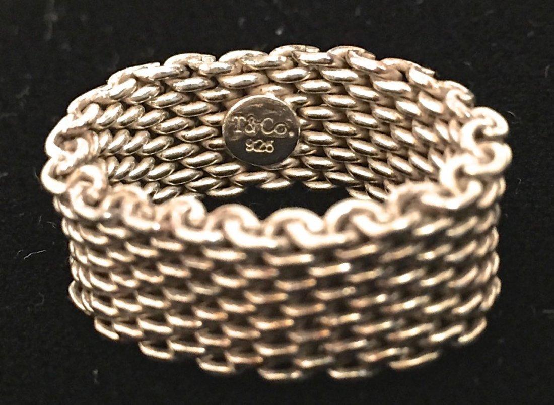 Tiffany & Co. Somerset Mesh Ring