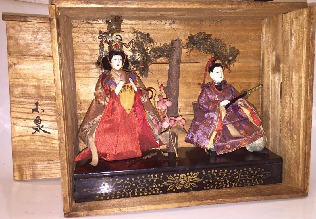 Japanese Emperor & Empress Hina Dolls, Meiji
