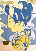Ludwig Hohlwein Gouache Painting 'Marco Polo Tea' 1926