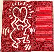 Keith Haring / LA Ii Graffiti Painted Record Cover