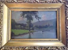American Landscape Oil Painting c.1890