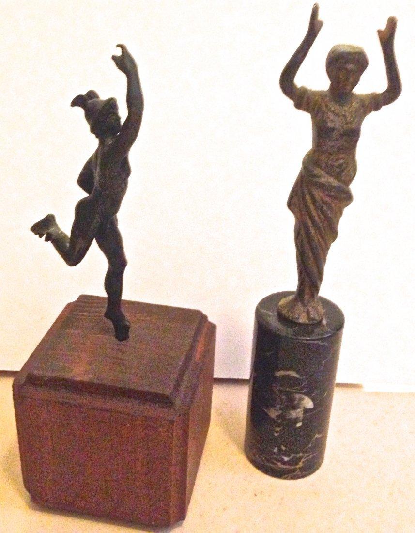 """Two Grand Tour Bronzes, """"Athena"""" & """"Mercury"""" 19th C."""