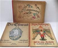 3 Antiquarian German Childrens Books 18511900