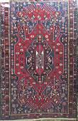"Semi-Antique Persian Kilim Rug,  6' 4"" lg x 4' wd"
