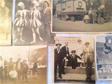 PHOTOGRAPH ALBUM ,TRAVELING CARNIVAL CIRCUS 1920's