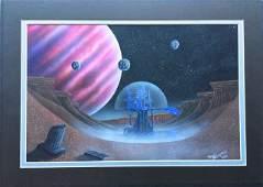 "Futurist painting ""Space City"" Thierstein"