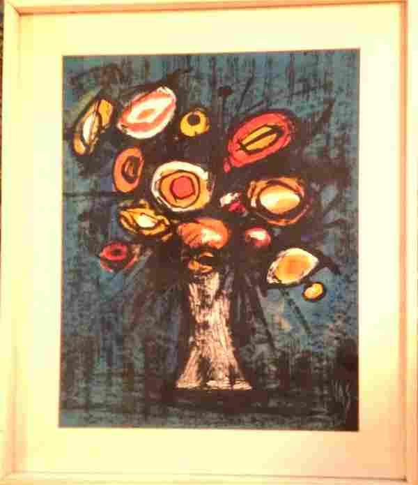 Midcentury Floral Still Life Painting, Signed: Vas