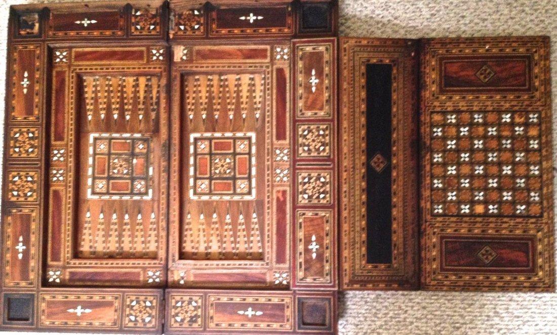 Moorish / Syrian Inlaid Games Table,19th Century
