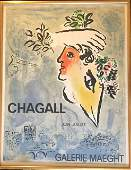 Marc Chagall Original Lithographic Exhibition Poster