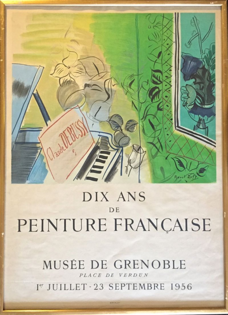 Raoul Dufy Exhibition Lithographic Poster, 1956
