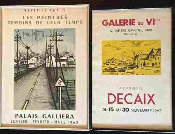 Buffet & Decaix Lithographic Exhibition Posters (2)
