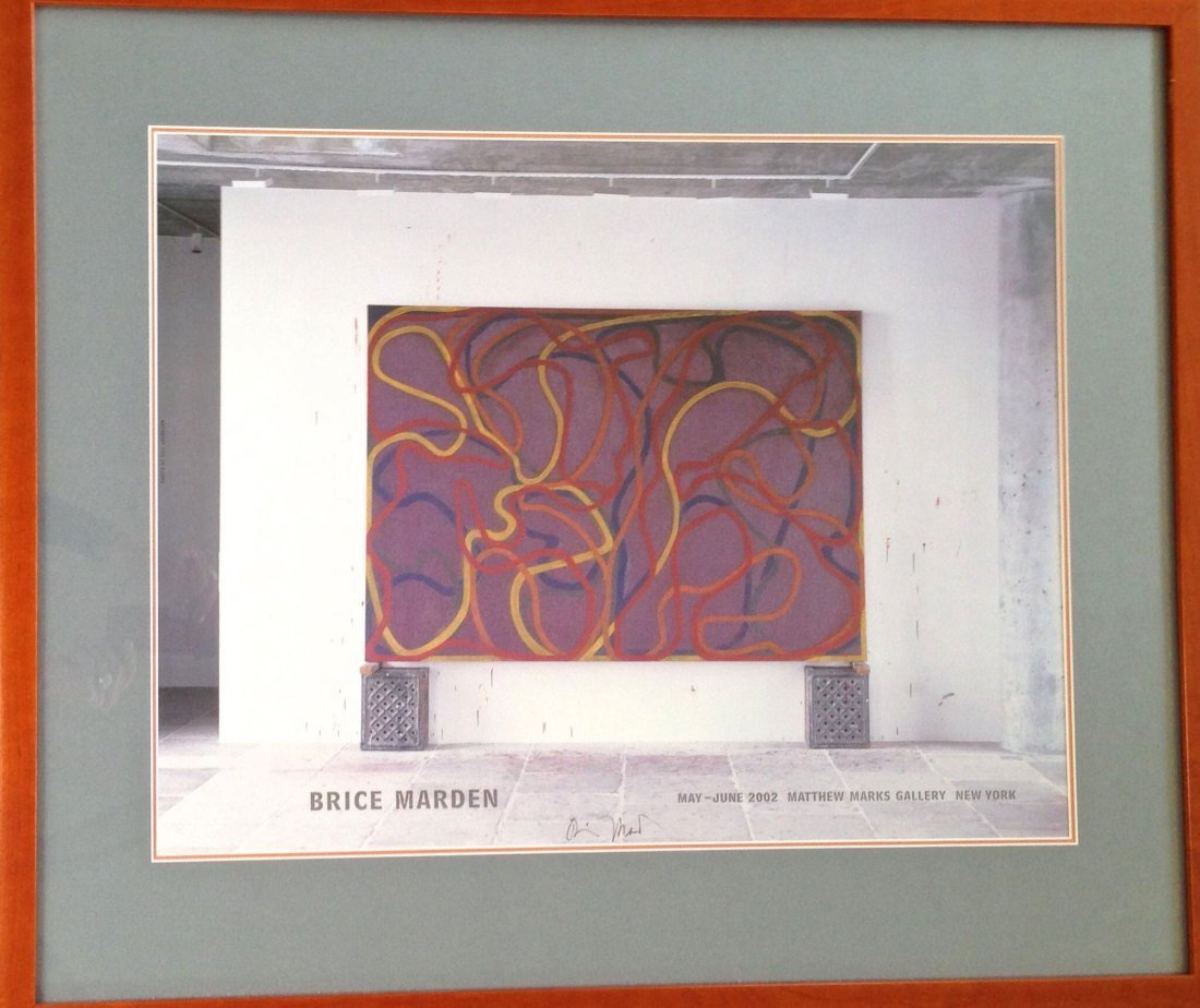 Brice Marden, Handsigned Lithographic Exhibition Poster