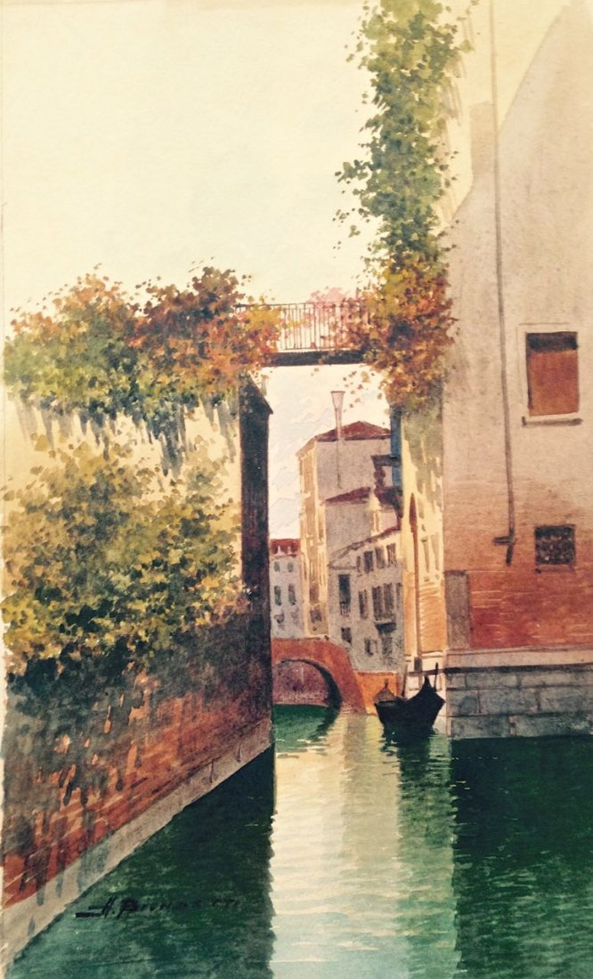 Marchetto, Venetian Canal With Gondola