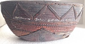 Museum Deaccessioned Hand-woven Basket